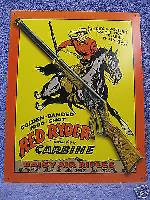Daisy Red Ryder Carine Tin Metal Sign Rifle Hunting NEW for sale  Shipping to Canada