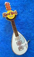 HONOLULU HAWAII WHITE MEMORABILIA WALL TEARDROP VOX GUITAR Hard Rock Cafe PIN LE for sale  Shipping to Canada