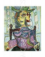 "PICASSO PABLO - SEATED PORTRAIT OF DORA MAAR - Artwork Reproduc 14"" x 11"" (4132), used for sale  Shipping to Canada"