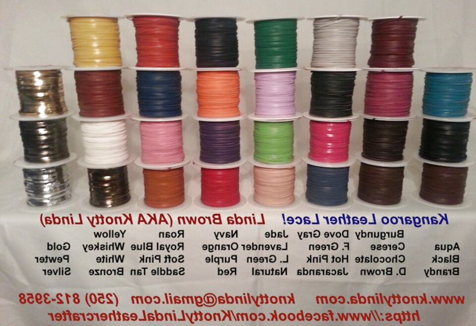 kangaroo leather lace for sale