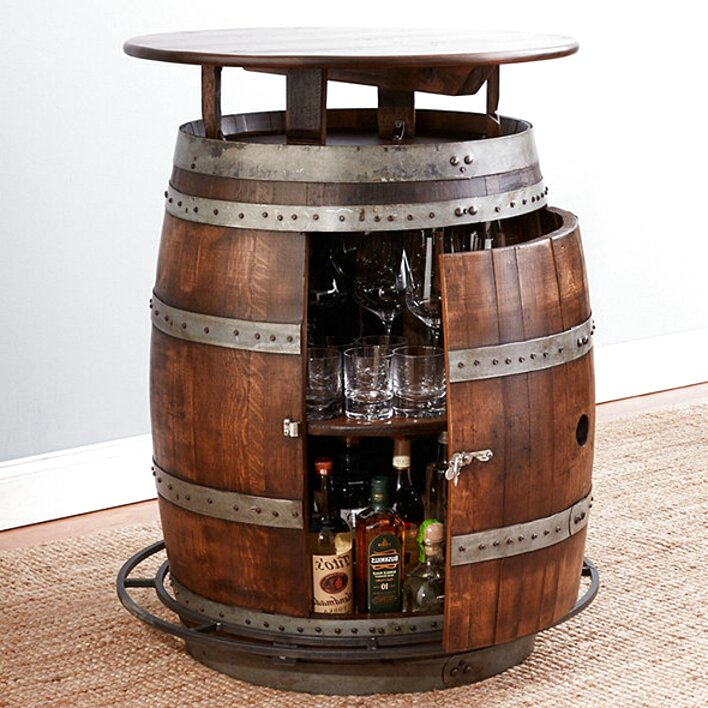 oak barrel tables for sale