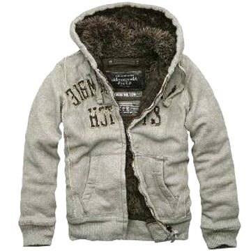 abercrombie fur hoodie for sale