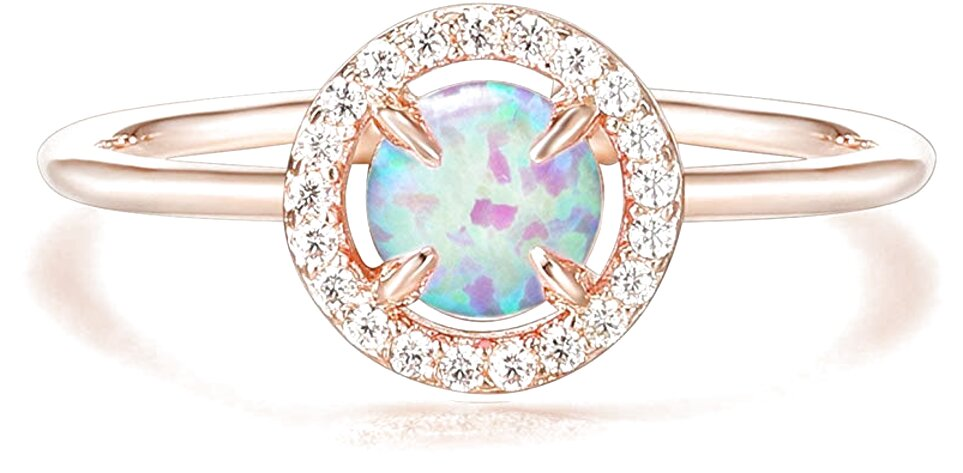 opal gold rings for sale
