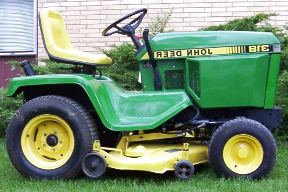 john deere 318 mower for sale