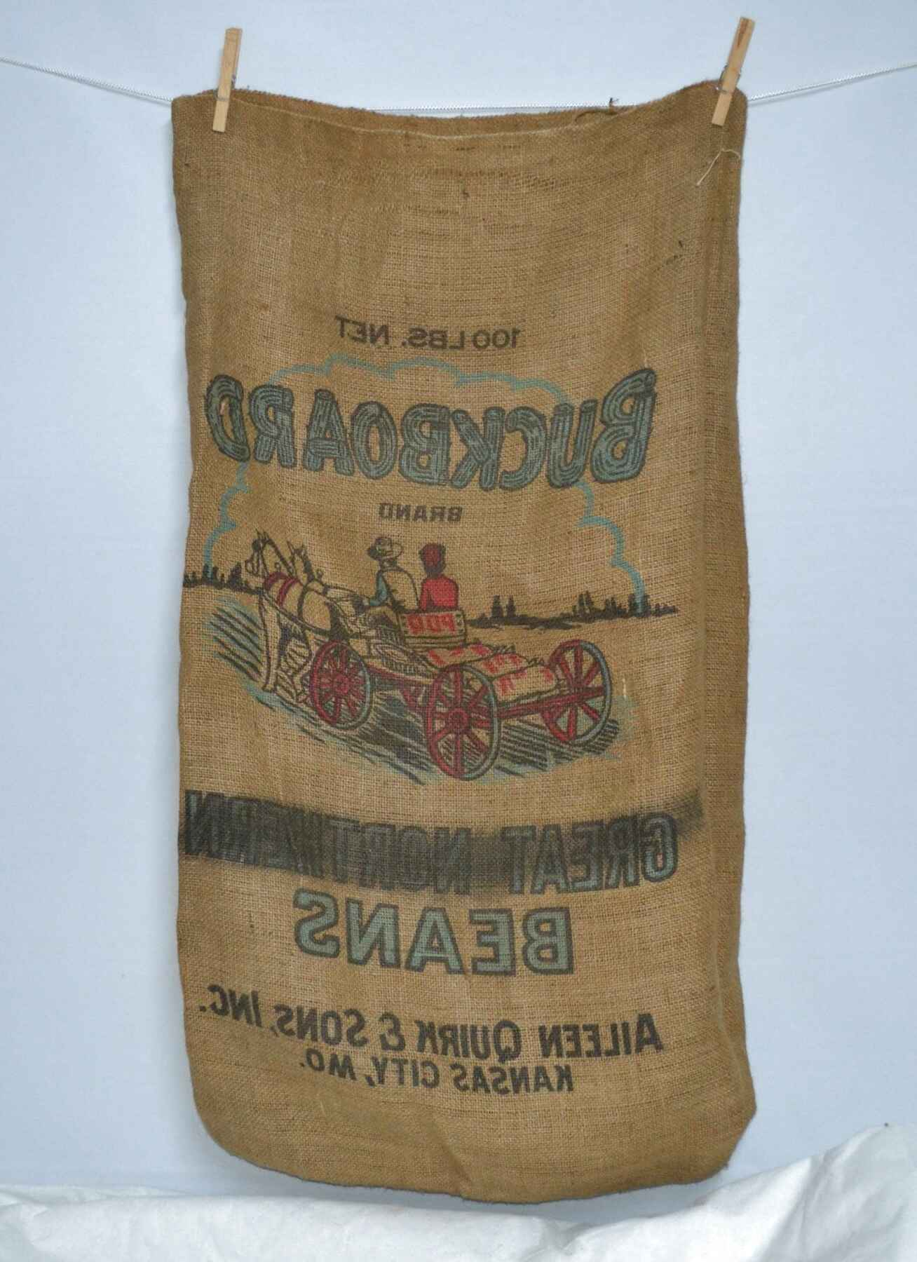 burlap feed bags for sale