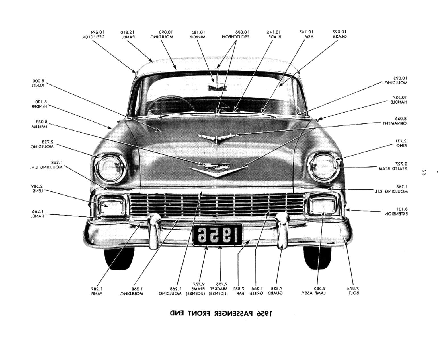 1956 chevy parts for sale