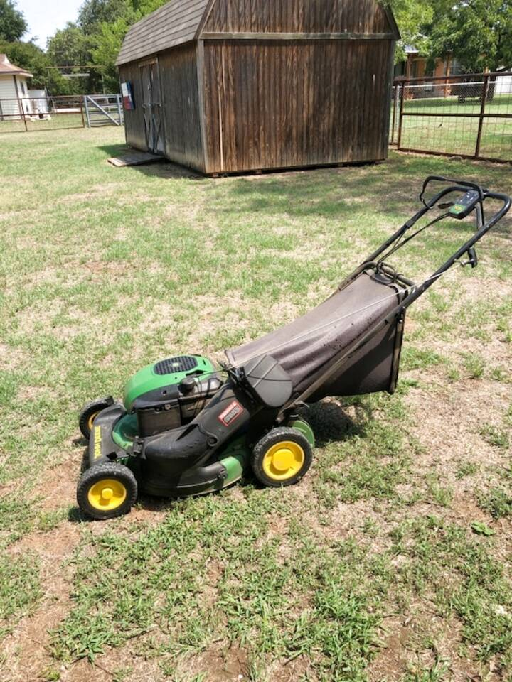 john deere push mower for sale