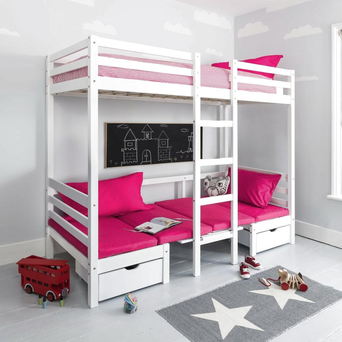 pink bunk beds for sale
