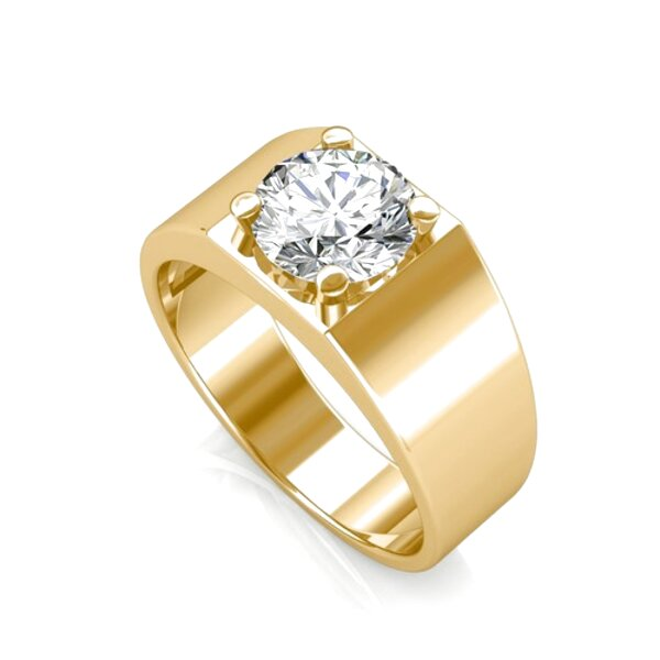 mens solitaire diamond rings for sale